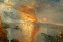 Brand des Parlamentsgebäudes in London