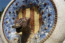 Mosaik-Skulptur Park Güell